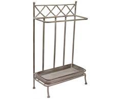 Better & Best Rctg Gris Paraguero Rectangular Hierro, Medidas 42x19x62 cm, Material: Metal, Talla única