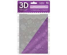 Crafters Companion EF5-3D-FLACE Carpeta de Estampado 3D de 5x 7-Encaje Francés-26.5 x 16 x 1 cm