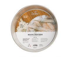 Gira para decoración de pasteles Pascua, placa Wet estaño, plata, 20 cm