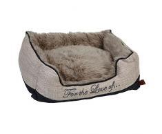 Diseñado por Lotte perro cama Dallam, 55 x 50 x 20 cm, color beige