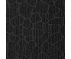 Deco Tapis - 1740254, Tapete De Entrada Rectangulo, 45 X 75 Cm, Galets, Alfombra De Entrada, Negro