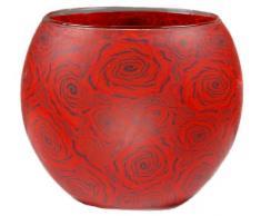 11x11x9 cm Him Red Star Cristal//portavelas candelabros