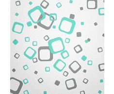 Pared Hada® pared adhesivo 60 cuadrados elegir color color gris helltürkis bicolor Multicolor moderna decoración pared etiqueta Retro Cubes cuadrados pared vinilo decorativo pegatinas pared adhesivo para azulejos decoración pegatinas