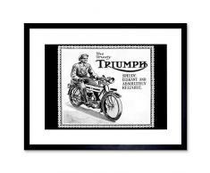 Wee Blue Coo Triumph - Cuadro de Pared con Marco de Estilo Retro Vintage