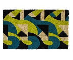 Entryways Victoria and Albert Museum Art Deco - Felpudo (Fibra de Coco), Fibra de Coco, Multicolor, 45 x 75