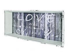 Haku Möbel 27927 estante de pared, 12 x 76 x 30 cm, blanco limpiado / vintage