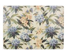 Creative Tops - Manteles Individuales rectangulares (40 x 29 cm, Base de Corcho), diseño Floral Tradicional