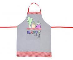 FoxTrot 8737HAPY Happy delantal de algodón multicolor para verduras 0,5 x 91 x 72 cm