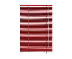 Gardinia 10007313 - Persiana (aluminio, láminas de 25 mm de grosor, 40 x 175 cm), color rojo