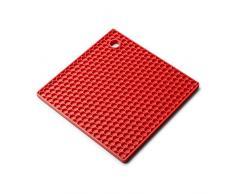 Zeal Resistente al Calor Antideslizante Honeycomb Textura Alfombrilla de salvamanteles, Silicona, Rojo, 22Â x 22Â x 22Â cm