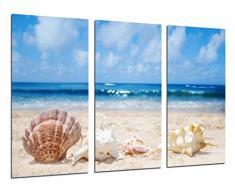 Poster Fotográfico Paisaje Playa, Ola en el Mar, Caracola, Concha Tamaño total: 97 x 62 cm XXL