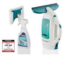 Leifheit 51021 Set aspirador limpiacristales y limpiador Window Spray, blanco/turquesa, Único