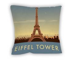 Dave Thompson la torre Eiffel, París Impresión cojín, Multicolor