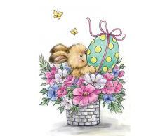 Wild Rose Studio sello transparente, diseño de conejo de Pascua