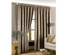 Just Contempo - Cortinas Plisadas de Terciopelo, Color Gris Topo, Mezcla de algodón, marrón Topo, 46 x 72 Inches