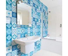 Ambiance-sticker Pegatinas de Azulejos Adhesivas – Adhesivo de Azulejos de Cemento – Decoración de Pared para baño y Cocina – 20 x 20 cm – 60 Unidades