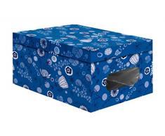Compactor Home 25 cm PVC y Color Caja de almacenaje de cartón, Azul