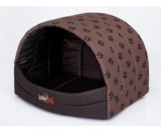 HOBBYDOG prompter perro cama, tamaño 4, color marrón con patas impresión