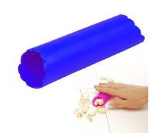 Outlook Design Italia - Pelador de ajos, utensilio de Cocina de Silicona, Color Azul