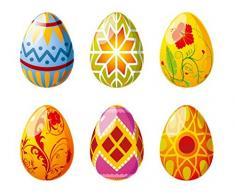Apalis Pegatina para Ventana con diseño de Huevos de Pascua n.º 510, Pegatina para Ventana, decoración de Ventana o Ventana, tamaño: 122 cm x 133 cm