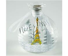 Navidad en París, Lote de 10 Bolas Redondas de 8 cm, Navidad en París, decoración, 8 cm.
