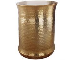 Wohnling mesa auxiliar Tarun 41x 50x 41cm Aluminio oro redondo con motivos orientales, pequeño sofá mesa metal martillado, Diseñador estante mesa Modern, anstell mesa estrecho, Salón Mesa Mesa, 45x 45x 56cm