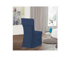 Bleu Câlin Funda de Silla con Lazos, Algodón, Azul Marino, 50 x 100 x 50