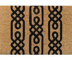 Entryways Felpudo de Fibra de Coco Antideslizante Nodus, Negro, 40 cm x 60 cm x 15 mm