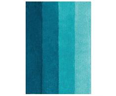 Spirella colección Four, Alfombrilla de Ducha 55 x 65,90% Polyester-10% Acrílico,Negro, petróleo, 65 x 55 x 25 cm