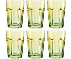Josef Mäser GmbH Serie Country - Vasos (40 cl, 6 unidades), color amarillo y verde