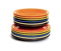 Excélsa 45338 - Juegos de vajilla, multicolor