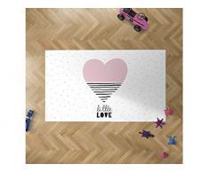 Oedim - Alfombra Infantil Corazón para Habitaciones PVC | 95 x 200 cm | Moqueta PVC | Suelo vinílico | Decoración del Hogar | Suelo Sintasol | Suelo de Protección Infantil |