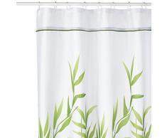 InterDesign Anzu Cortina de ducha | Cortina de baño lavable a máquina de 180 x 200 cm | Cortinas modernas con estampado floral para bañera o plato de ducha | Poliéster verde