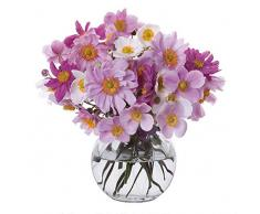 Dartington Florabundance Anemone - Florero de cristal