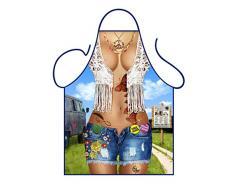 Iconic Delantales Delantal de Mujer Sexy Hippy, poliéster, Multicolor, 79x 56x 0,1cm