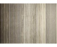 Esprit Nifty Stripes Moderno Marca Alfombra, poliéster, marrón, 200 x 133 x 0.85 cm