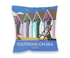 Dave Thompson , Essex de casetas de playa impresión cojín, Multicolor
