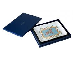 Villeroy & Boch Samarkand Aquamarina Gifts Plato Decorativo Grande, Porcelana Bone China, Cian