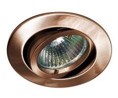 Lampenlux Samila - Foco led empotrable (redondo, giratorio, 12 V, aluminio, cobre envejecido, sin bombilla), acero cromado
