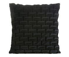 Eurofirany sofá, Juego de 2 Unidades de Fundas de Almohada Decorativo, cojín de Asiento de imitación, Verde Oliva y Negro, 45 x 45 cm, 2