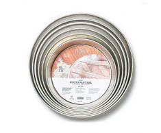 Gira para decoración de pasteles Pascua, placa Wet estaño, plata, 24 cm