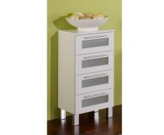 Simply Elan cajón Armario, Estructura aglomerado, Color Blanco, 31,5x 35,2x 82cm