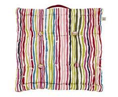 Dutch Decor Timeo Caja cojín, algodón, Multicolor, 43 x 43 x 8 cm