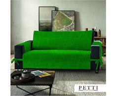 PETTI Artigiani Italiani Funda de Sofa, Tela, Verde, 3 Plazas (170-175 cm de apoyabrazos a apoyabrazos)