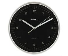 TechnoTrade WT-6700, Negro, Blanco, 1x AA - Reloj de pared