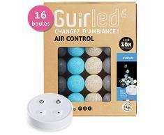 Guirnalda luminosa Bolas de algodón LED USB - Control remoto inalámbrico - Cargador USB dual 2A incluido - 4 intensidades - 16 bolas - Avatar