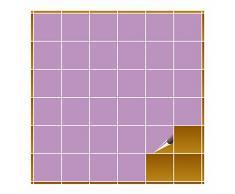 Adhesivo para azulejos para baño y cocina – 10 x 10 cm – violeta brillante – 240 adhesivos para azulejos de pared