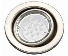 Brilliant G94561/13 - Lámpara empotrada, metal, 8 x 8 x 0,5 cm, color gris