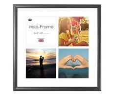 Inov8 16 x 40,64 cm Insta-Frame Marco para Instagram 4/de estampado a cuadros de fotos con paspartú blanco y blanco con borde, madera de fresno