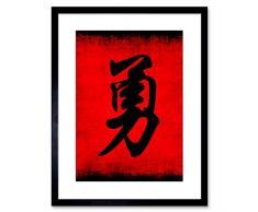Wee Blue F97X4676 - Cuadro Decorativo con Marco de caligrafía China